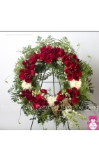 Funeral Wreath Red
